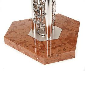 Portacirio moderno con base de marmol s3