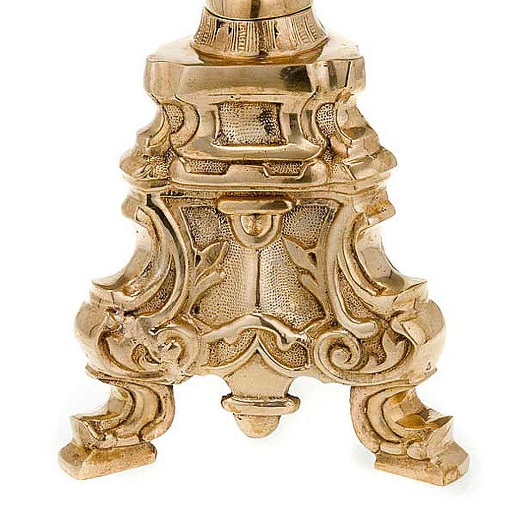 Candelabro estilo rococó latón dorado 4