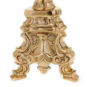 Base porta-círio estilo rococó latão dourado s5