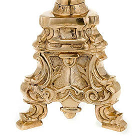 Gold-plated brass candle holder rococo style s5