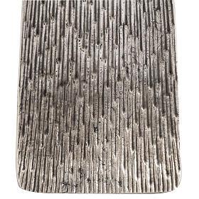 Base cierge pascal style moderne bronze moulé argenté s3
