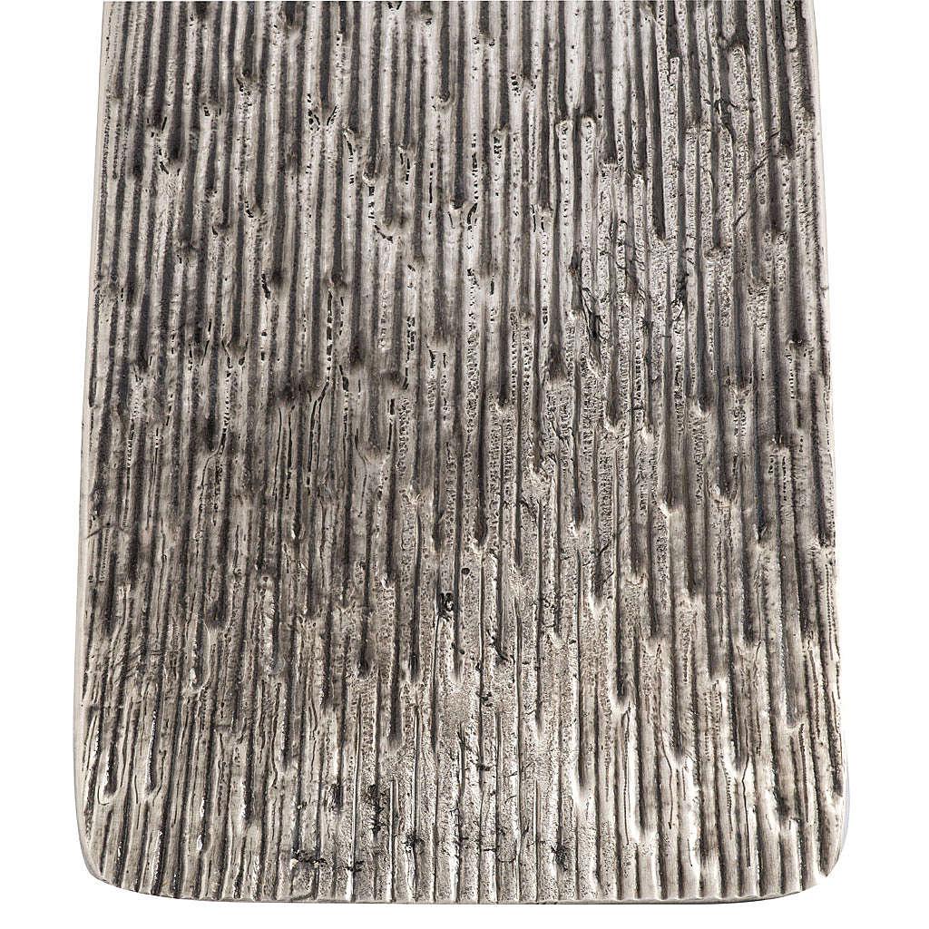 Base portacero pasquale moderna in bronzo fuso argentato 4