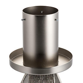 Base portacero pasquale moderna in bronzo fuso argentato s2
