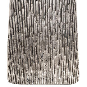 Base portacero pasquale moderna in bronzo fuso argentato s3