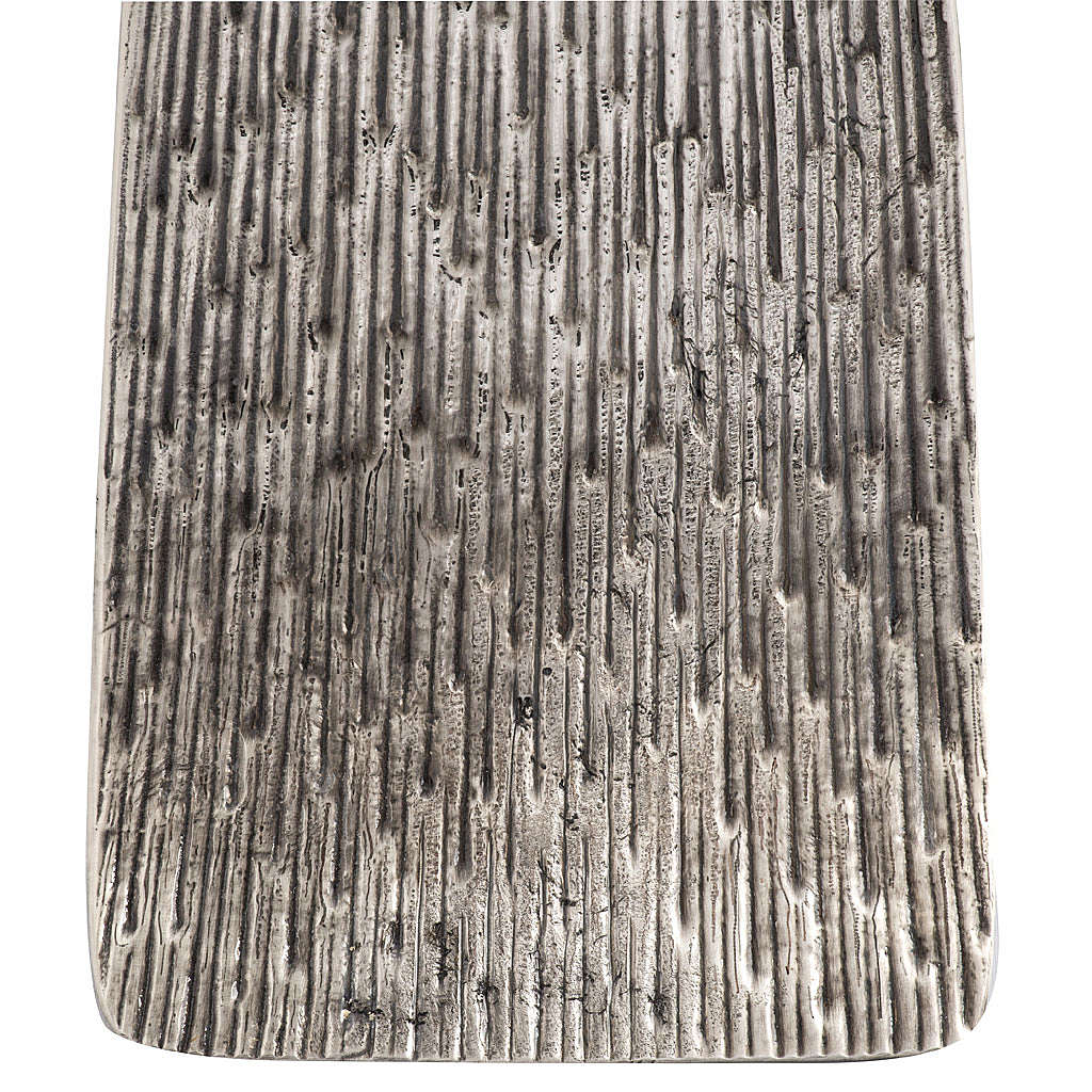 Base porta-círio pascal moderna bronze moldado prateado 4