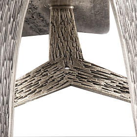 Base porta-círio pascal moderna bronze moldado prateado s4