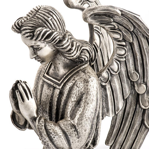 Modern Paschal Candle Holder in bronze with angel 3