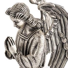 Base porta cirio pascual bronce con ángel s3