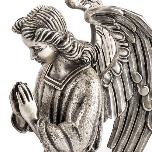 Base porta cirio pascual bronce con ángel 3
