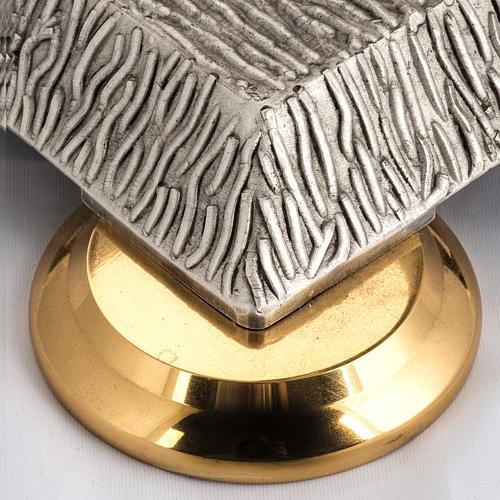 Base porta cirio pascual bronce con ángel 5