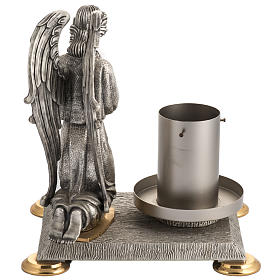 Modern Paschal Candle Holder in bronze with angel s6