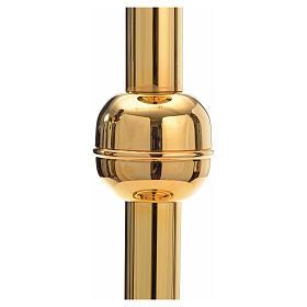 Porta cirio pascual latón dorado s2