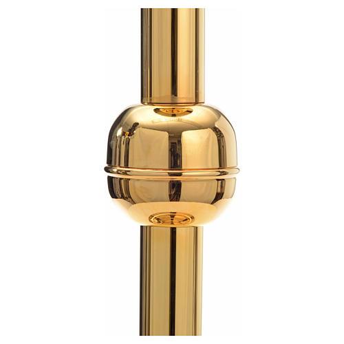 Porta cirio pascual latón dorado 2