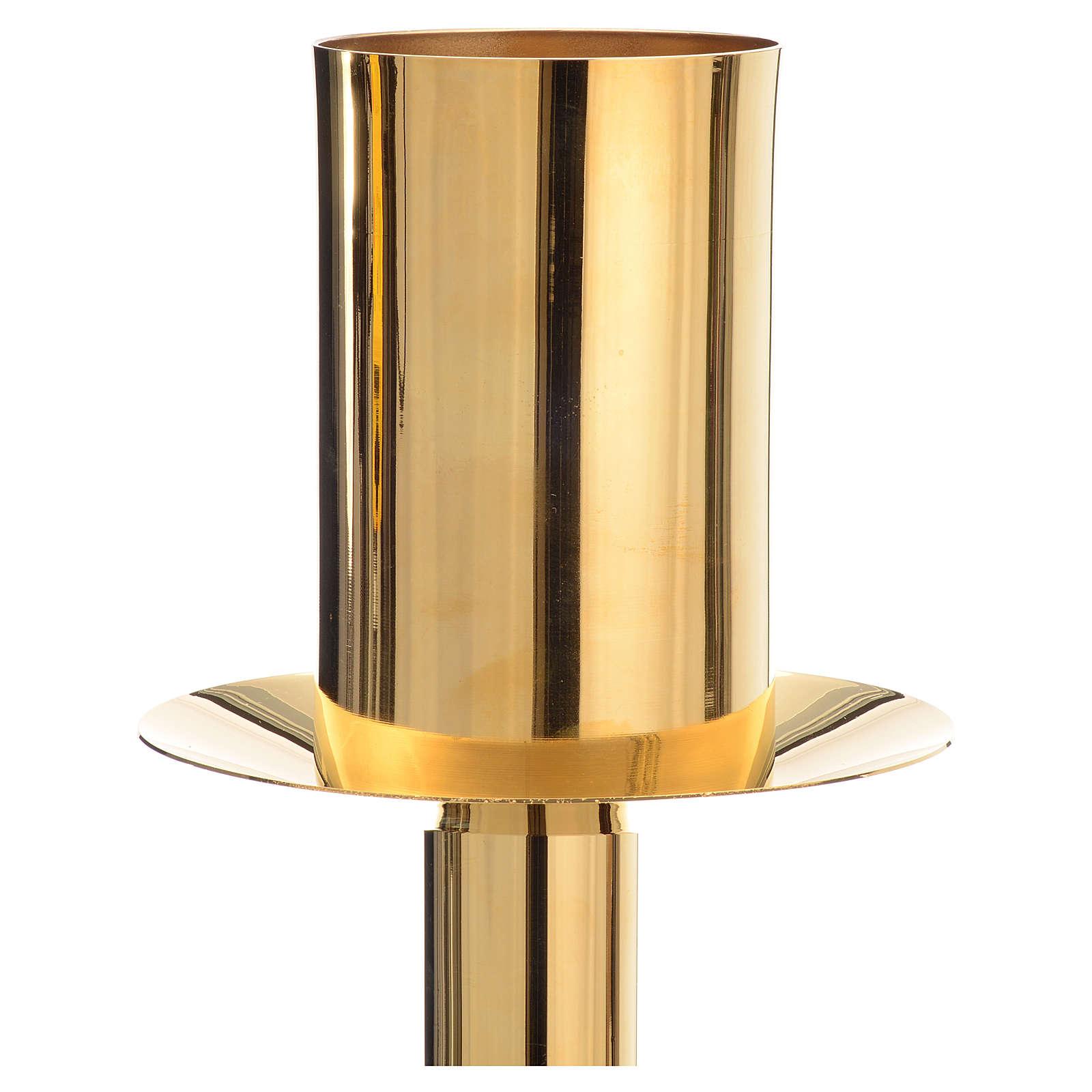 Base porta-círio pascal latão dourado 4