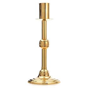 Base porta-círio pascal latão dourado s1