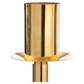 Base porta-círio pascal latão dourado s4