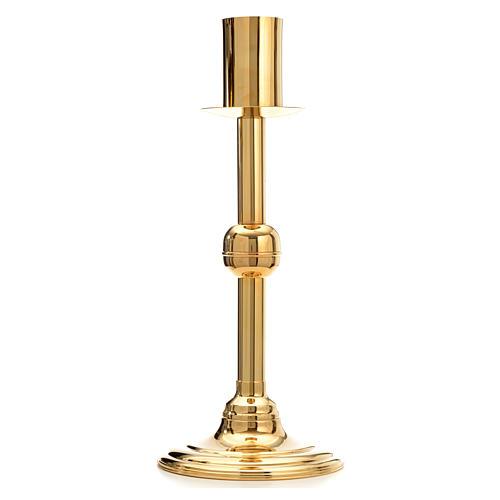 Base porta-círio pascal latão dourado 1