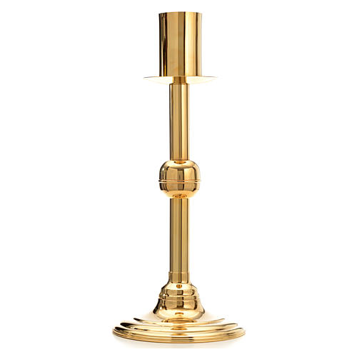 Modern Paschal Candle Holder in gold-plated bronze 1