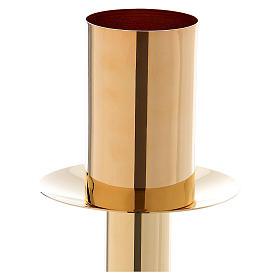 Base pour cierge pascal doré classique en métal 60 cm s2