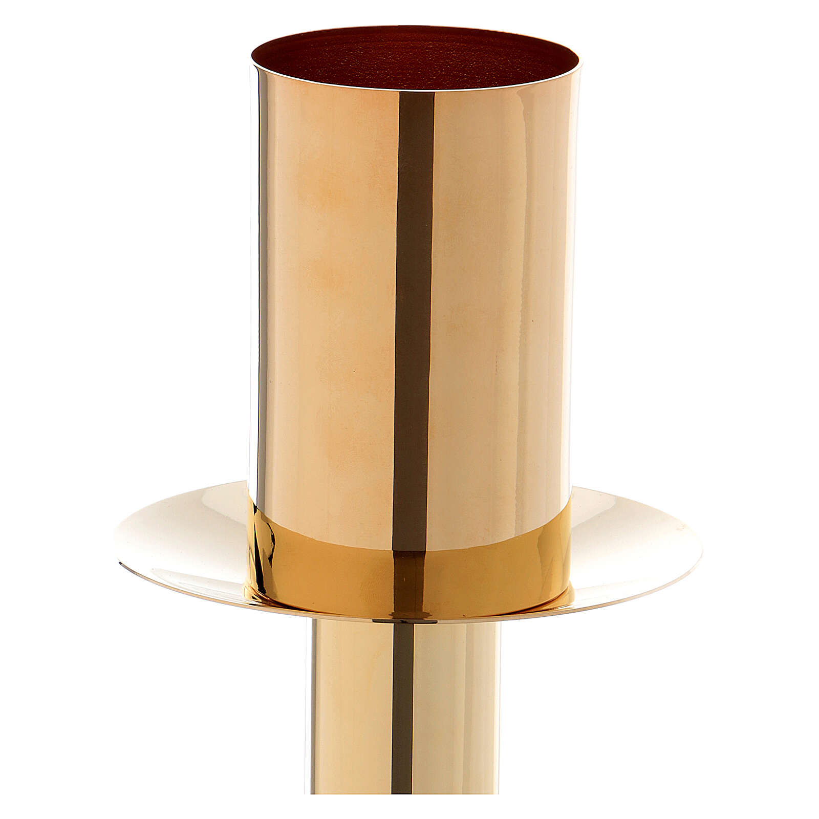 60 cm Candle holder for Easter candle in golden metal 4