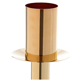 60 cm Candle holder for Easter candle in golden metal s2