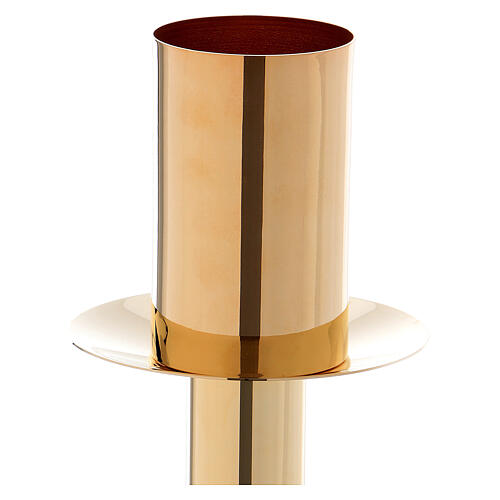 60 cm Candle holder for Easter candle in golden metal 2