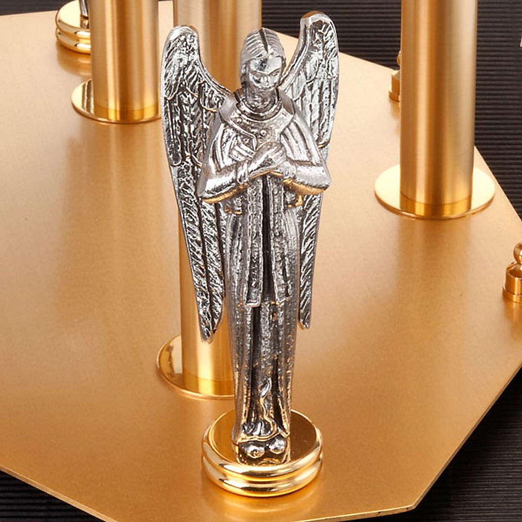 Trono con angeles y símbolos evangelistas 4