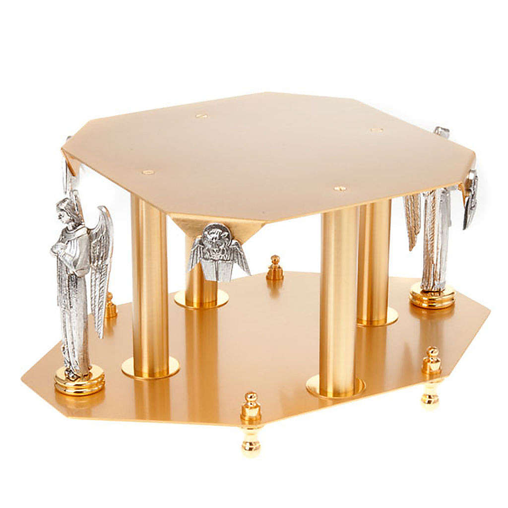 Monstrance stand with angels and evangelists 4