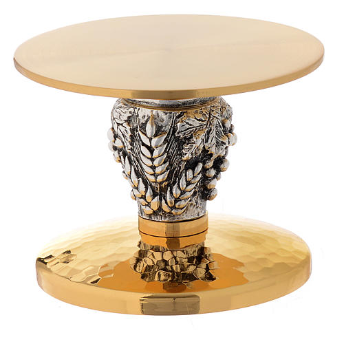 Monstrance throne, gold-plated chiselled with ears of wheat 1