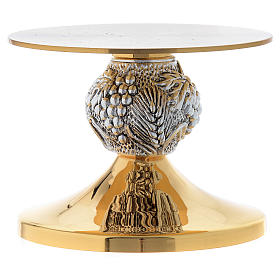Monstrance throne gold-plated and chiselled with grapes s2