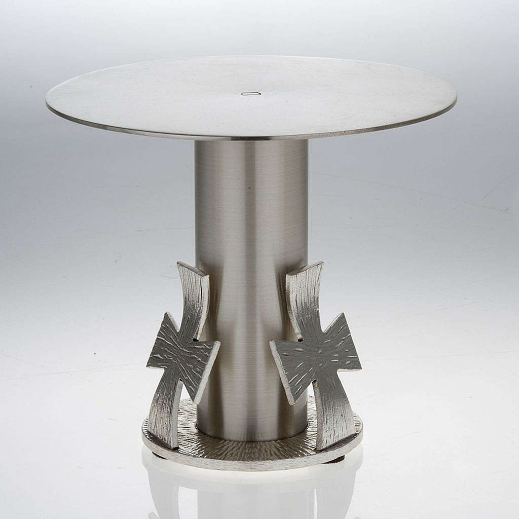Monstrance throne, silver base for monstrance with cross 4