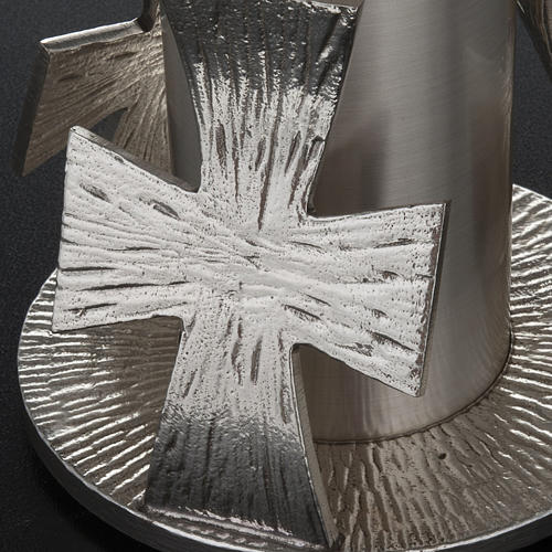 Monstrance throne, silver base for monstrance with cross 10