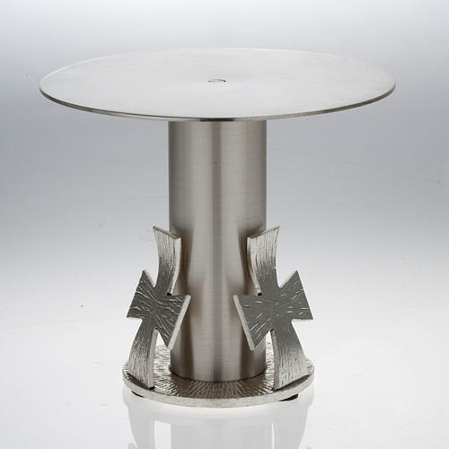 Monstrance throne, silver base for monstrance with cross 2