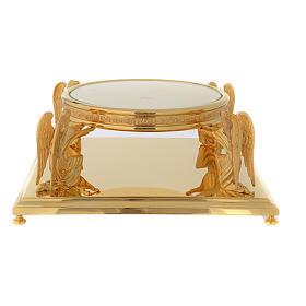 Base per ostensorio molina ottone dorato s1