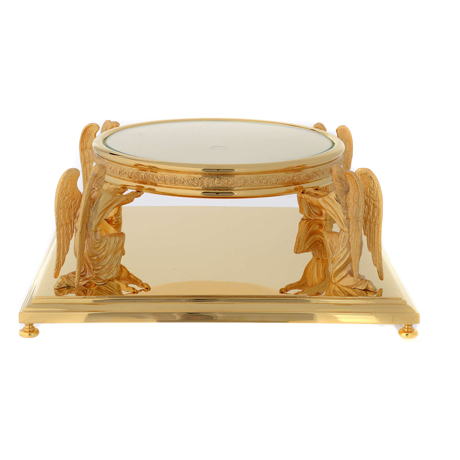 Molina base for monstrance in golden brass 4