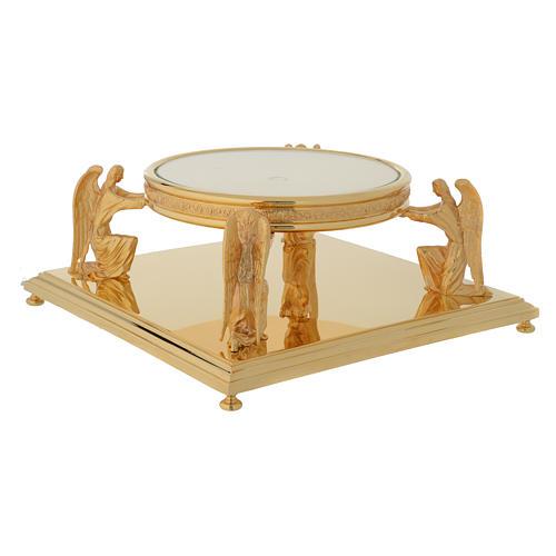 Molina base for monstrance in golden brass 2
