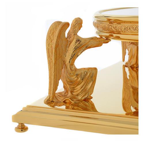 Molina base for monstrance in golden brass 3