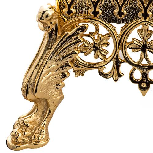 Trono de latón fundido dorado 3