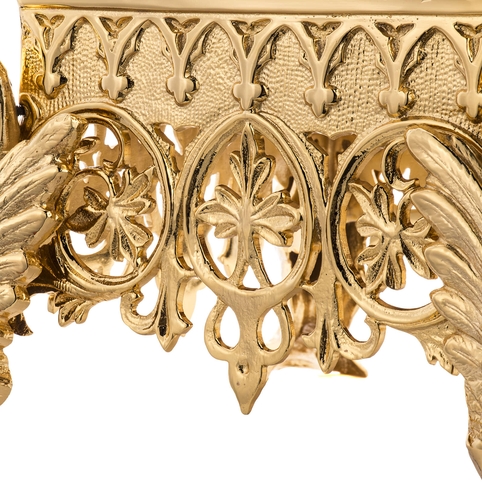 Monstrance throne in gold-plated brass 4 feets 4