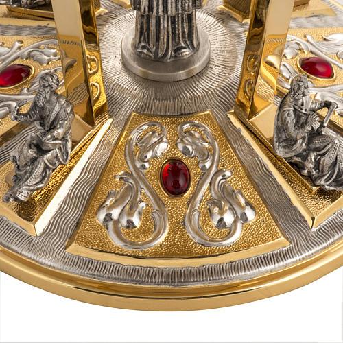 Trono latón con base bronce 4 Evangelistas 2