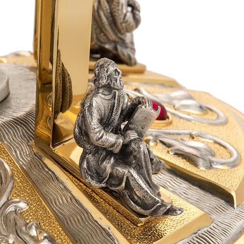 Trono latón con base bronce 4 Evangelistas 4