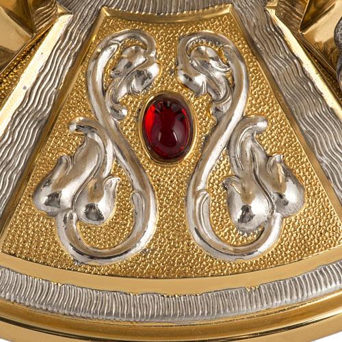 Trono latón con base bronce 4 Evangelistas 7