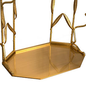 Setting for monstrance throne with 10 candle holders s4