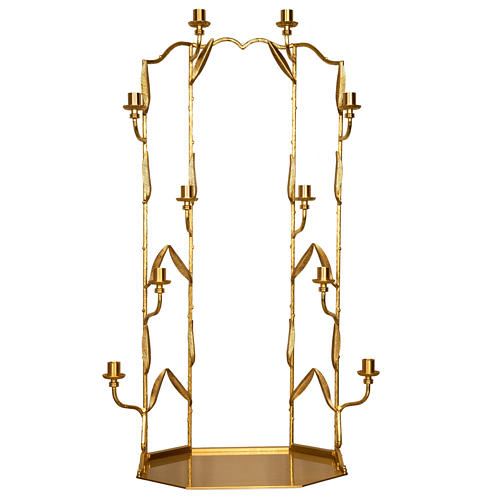 Setting for monstrance throne with 10 candle holders 1