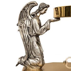 Trono latón dos ángeles rezando en bronce s4