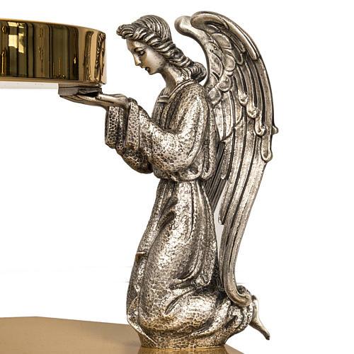 Tronetto ottone angeli in preghiera in bronzo 3