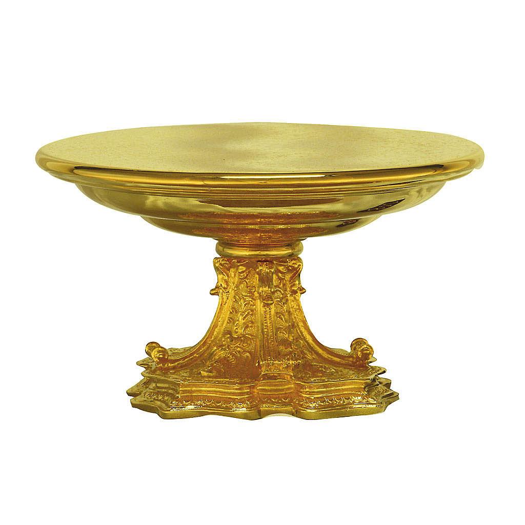 Tronetto ottone dorato base in fusione 4