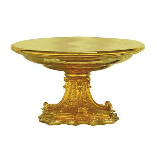 Tronetto ottone dorato base in fusione 1