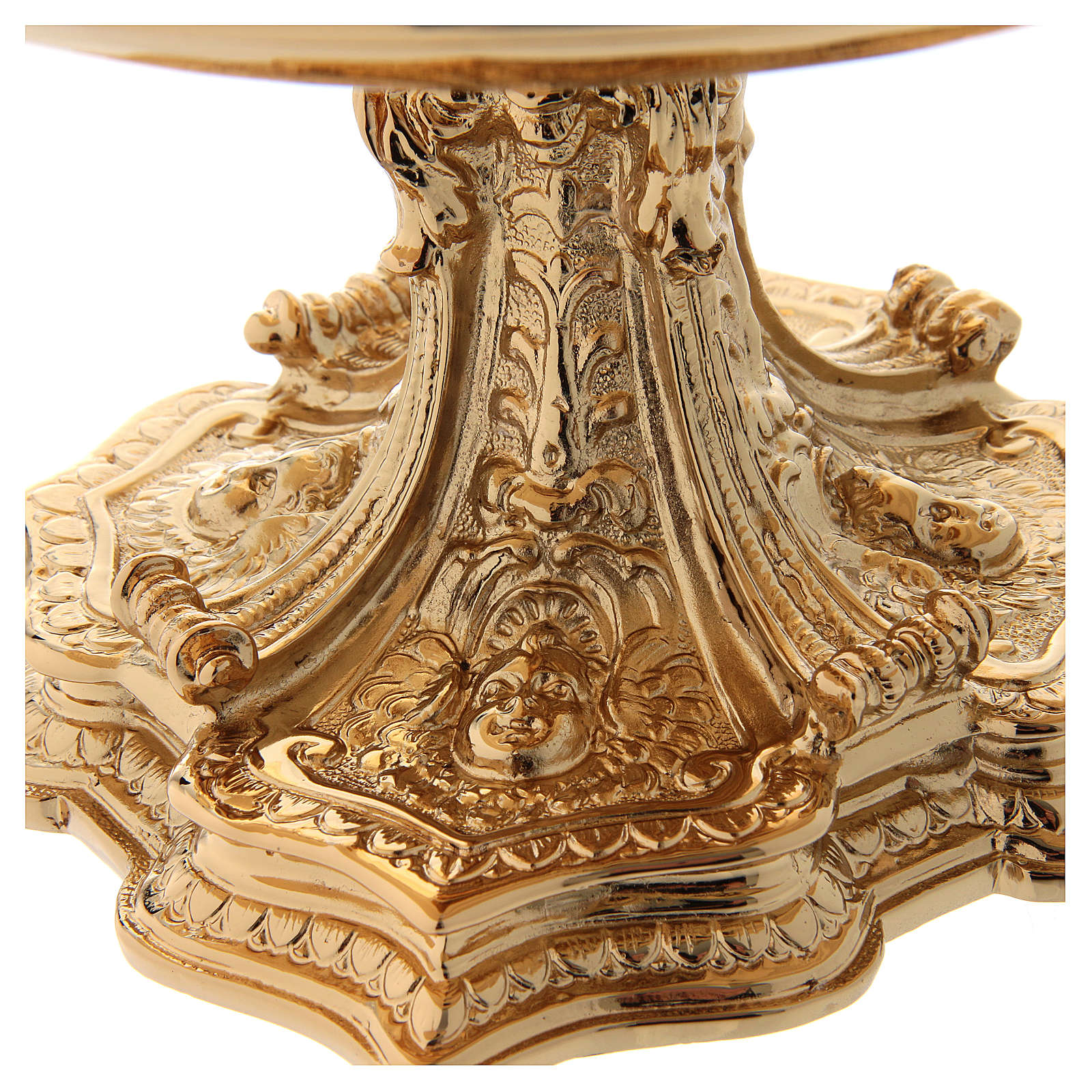 Monstrance throne in gold-plated brass 4