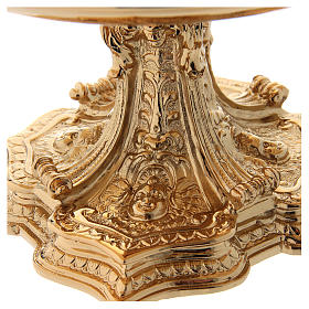 Monstrance throne in gold-plated brass s2